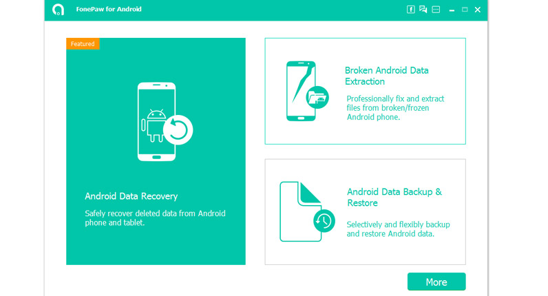 FonePaw-Recover Android deleted data