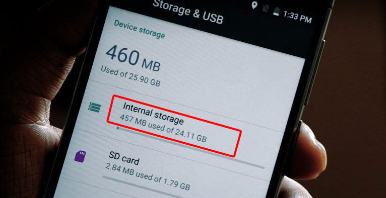 Low storage space causes Android System Update Failed to Install