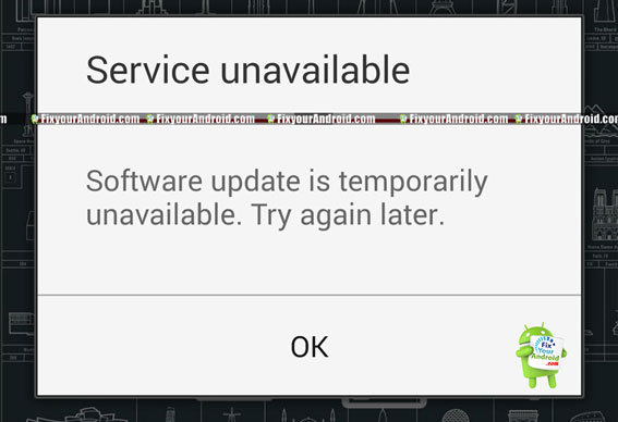 Software update is temporarily unavailable