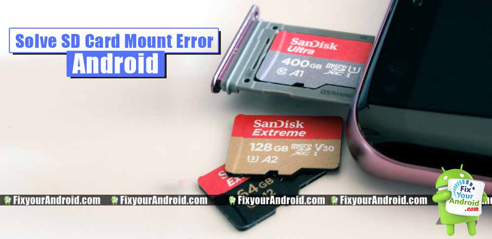 SD Memory Card Cannot Mount or Recognized