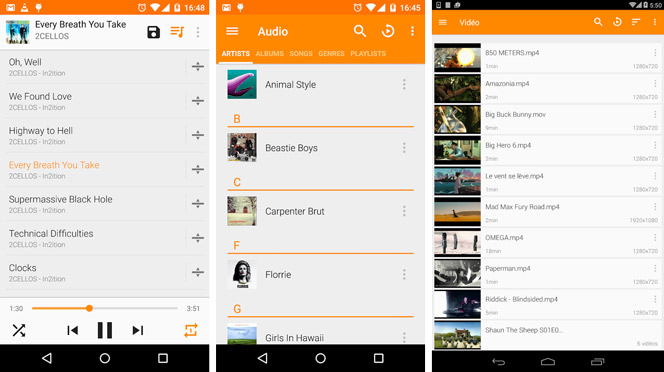 VLC player play mov on android