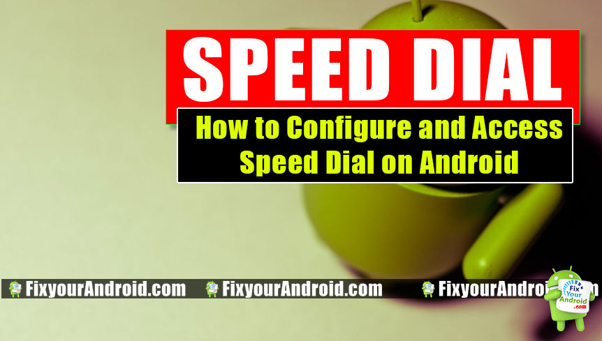 android speed dial