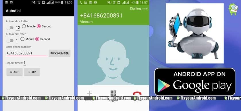 Autodial Android auto dialer app
