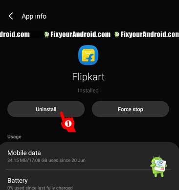 uninstall recently installed app to solve IMS Service error