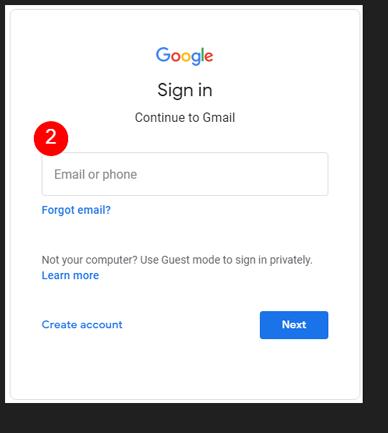 Change Default Google account
