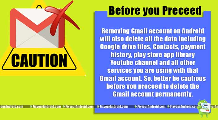Before Your Delete Gmail Account on Android permanently
