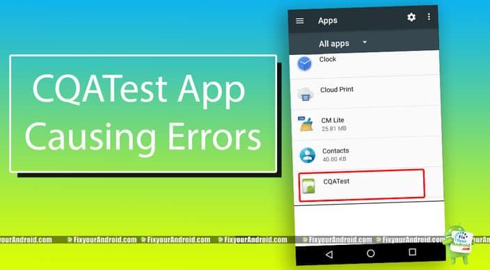 CQATest-App-Causing-Errors
