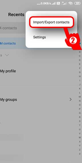 export-contacts-from-Android-export-settings