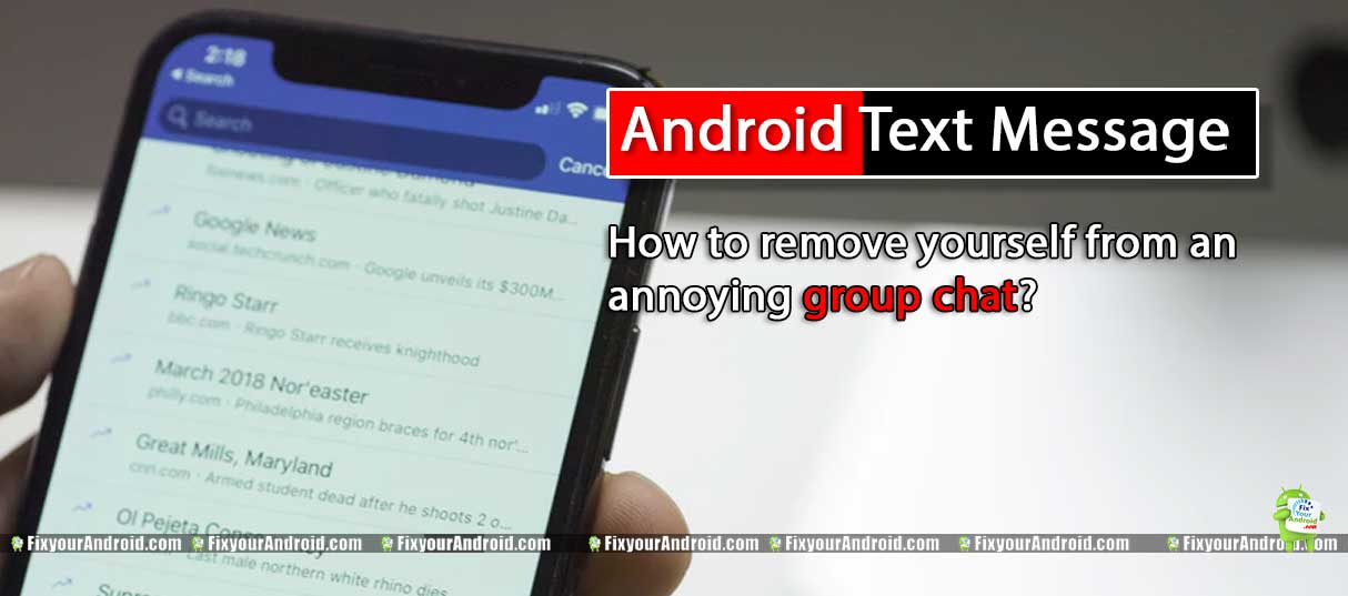 How to remove yourself from an annoying group chat?