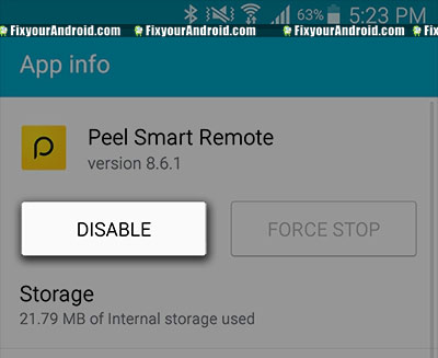 disable-Peel-remote