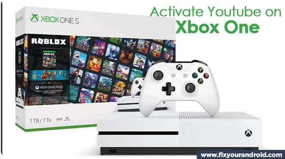 steps to activate YouTube on Xbox one