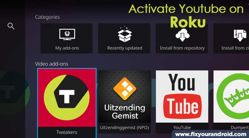 steps to activate YouTube kodi