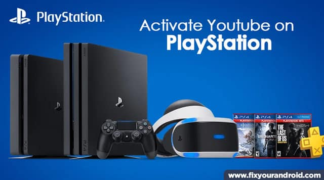 steps to activate youtube on playstation