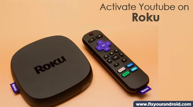 steps to activate YouTube roku