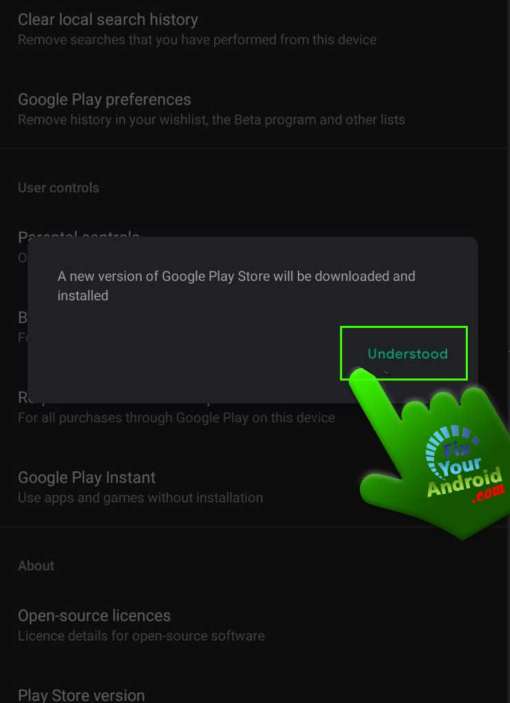 tap-understood-to-update-play-store