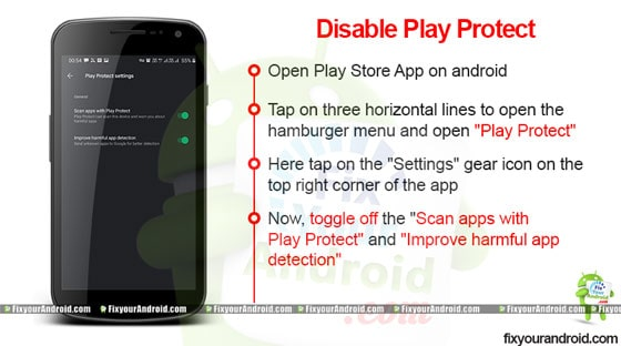 disable play protect to fix parse error