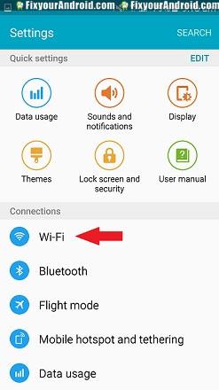 step 1. open wifi