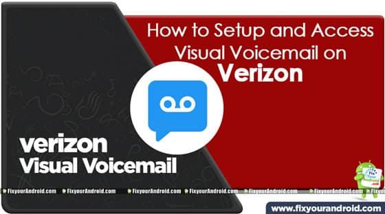 verizon visual voicemail setup