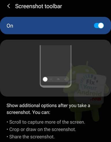 enable screenshot android