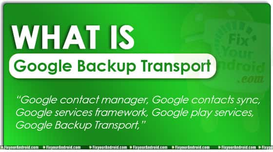 what is Google Backup Transport