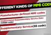 Different kinds of MMI codes