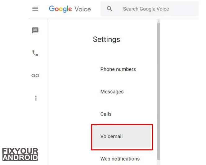 Delete google voice - voicemail