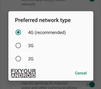 Enable the Right Network Mode