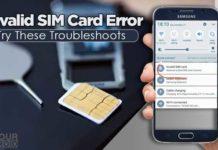 Fix Invalid SIM Card Error android iphone