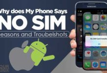 why does my phone say no sim