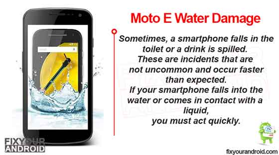 Moto E Water Damage